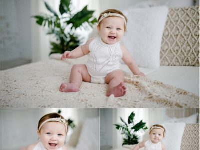 Lucy's 6 month milestone mini | Huntsville Alabama Photographer